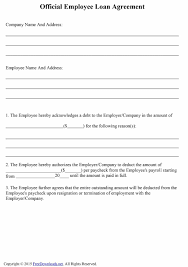 Company Loan To Employee Agreement 40 Free Loan Agreement Templates Word Pdf Template Lab