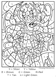 Color by number printables are so much fun! Color By Number Coloring Pages Christmas Coloring Pages Christmas Color By Number Coloring Pages For Kids