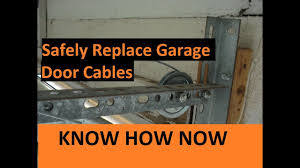 how to replace broken garage door cable