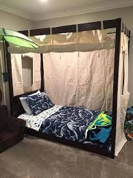 Charming Twin Bed Canopy Tent U5460725 Boys Bed Canopy For Fantastic ...