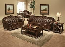 living room sets traditional wood dark sofa leather antique living room furniture sets