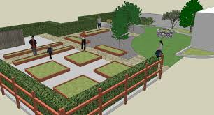 Small Picture A Rendering Shows The Proposed Layout Of A New Teaching Garden