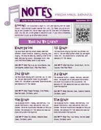 Music Newsletter Templates Music Classroom Newsletter Template By Music With Mrs Dennis Tpt