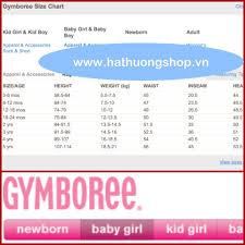Gymboree Baby Shoe Size Chart