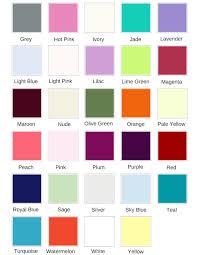 Jade Colour Chart Colour Chart