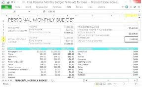 Budget Template Excel Download Monthly Budget Spreadsheet Excel Personal Worksheet Free