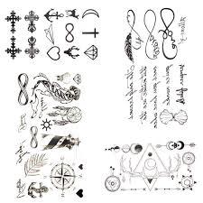 черные маленькие буквы бесконечные временная татуировка для женщин вечерние