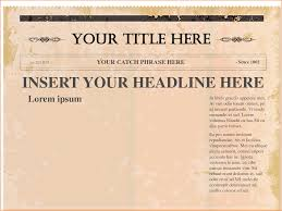 Blank Newspaper Template Solutionet Org