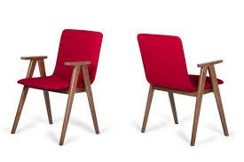 maddox modern red walnut dining chair set of 2 modern red leather dining chairs