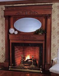 decoration for brown wooden mantel fireplace