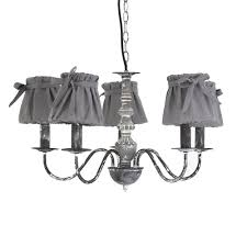 Chandelier Dark Grey Shabby Chic French Rustic Style French