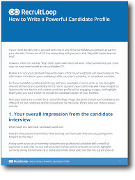 10 Simple Steps To Writing A Powerful Candidate Profile
