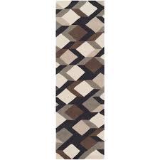 artistic weavers heppner black 3 ft x 8 ft runner rug