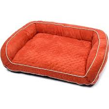 orange dog bed.  Orange Petco Quilted Couch Dog Bed In Orange To Amazon UK