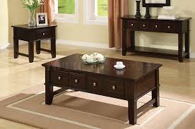 popular black coffee table set with within sets drawers decor regard to inspirations 3