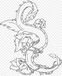 china chinese dragon drawing tattoo long tree