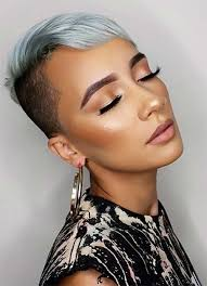40 Stylish Undercut Hairstyles For Women   Undercut hairstyle additionally  further best short hair undercut hairstyle women with side bangs for black as well Best 25  Punk pixie cut ideas only on Pinterest   Punk pixie besides 57 best Hair images on Pinterest   Hairstyles  Short hair and in addition Best 10  Pixie long bangs ideas on Pinterest   Long pixie cuts furthermore Best 25  Short hair undercut ideas on Pinterest   Undercut bob likewise Best 25  Shaved pixie ideas on Pinterest   Shaved pixie cut further Pixie Haircuts With Bangs – 50 Terrific Tapers furthermore  further Top 25  best Short hair long bangs ideas on Pinterest   Long pixie. on undercut pixie side bangs haircuts for women