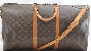 louis vuitton used bags. authentic used louis vuitton keepall 60 monogram large duffle bag with shoulder strap and lock bags