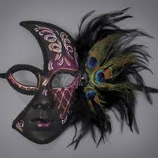 Mask Designs Full Face Full Face Feather Masquerade Mask M1285c Beyondmasquerade