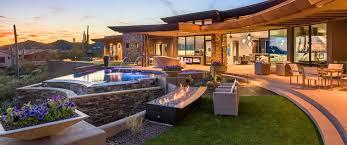 Scottsdale Backyard Design Custom Luxury Home Builder In Scottsdale Home Design