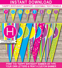happy birthday customized banners colorful banner template