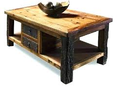 distressed rustic coffee table round simple reclaimed wood grey co