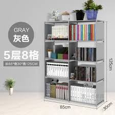 multi function diy bookshelf storage rack 3 row