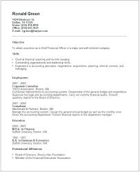 Financial Resume Examples New Sample Resume For Finance Simple Controller Resume Sample