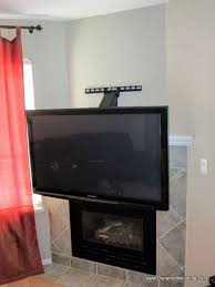 Dynamicmounting Pull Down In Front Of Fireplace For Awesome Wall Mount Tv Above
