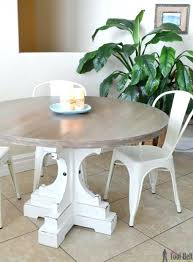 48 inch farmhouse table this round table with its chunky legs will fit perfectly in a farmhouse or rustic decor from her tool belt saw this table at