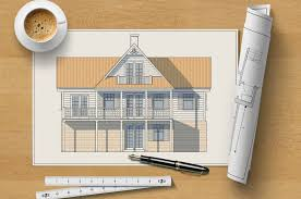 Architectural home design Top Architectural Elevation Drawing Of Wooden House On Table With Pen Ruler Rolled Luxury Antonovich Design How To Be Certified Professional Home Designer