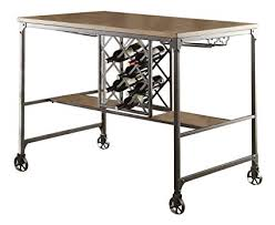 Wine rack dining table Wine Storage Homelegance Angstrom Rustic Wood And Metal Dining Table With Wine Rack Walnut Ny Furniture Outlets Amazoncom Homelegance Angstrom Rustic Wood And Metal Dining Table