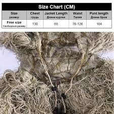 Ghillie Suit Size Chart Us 37 88 29 Off 3d Withered Grass Ghillie Suit 4 Pcs Sniper Military Tactical Camouflage Clothing Hunting Suit Army Hunting Clothes Birding Suit In