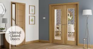 internal glazed wooden doors glazed