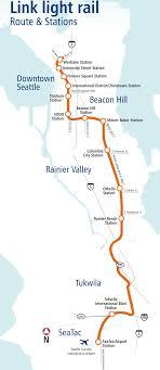 Downtown Seattle Light Rail Map Seattle Light Rail Map Metro Mapsof Net