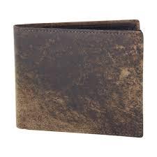 jacaru kangaroo leather wallet larger size stonewashed brown