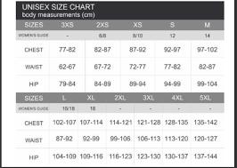 Size Chart 1 Transplant Australia