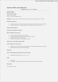 office clerk resume general office clerk resume sample globish me