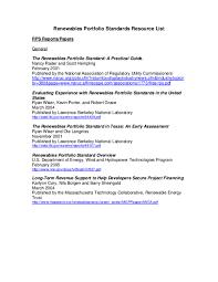 PDF) Renewables Portfolio Standards Resource List RPS Reports/Papers  General The Renewables Portfolio Standard: A Practical Guide | Kevin Porter  and Nancy Rader - Academia.edu