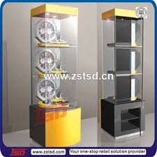Standing Watch Display Case TSDW100 Custom high quality free standing watch display showcase 5