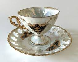 Decorative Cups And Saucers Decorative teacup Etsy 21