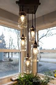 perfect mason jar dining room light 726 best d i y lighting image on chandelier lowe fixture set table centerpiece lamp