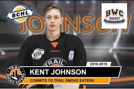 "Trail Smoke Eaters on Twitter: ""KENT JOHNSON OF @bwchockey SIGNS WITH  SMOKIES IN 2018-19 📰 https://t.co/vBfdoWe68J #BCHL… """