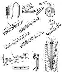 Организация рабочего места каменщика Инструменты подмости леса Контрольно измерительные инструменты