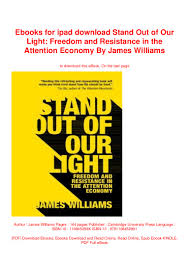 James Williams Stand Out Of Our Light Ebooks For Ipad Download Stand Out Of Our Light Freedom And