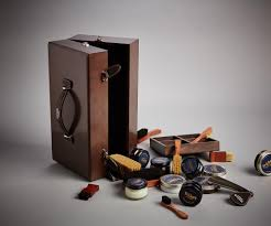 polished wooden valet box