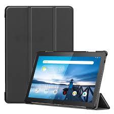 <b>Tri</b>-<b>fold Stand</b> Leather <b>Case for</b> Lenovo Tab M10 TB-X605F - Black ...