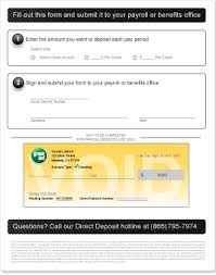 How To Fill Out Direct Deposit Form Direct Deposit