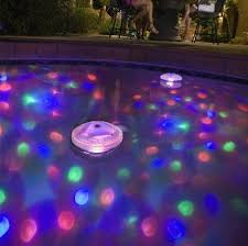 swimming pool lighting options. bring a kaleidoscope of light to your pool this watertight battery operated has swimming lighting options