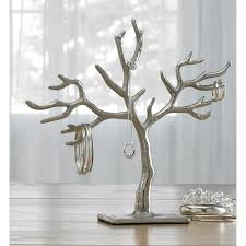 kindwer hanging jewelry tree earring necklace ring and bracelet organizer 11 inch